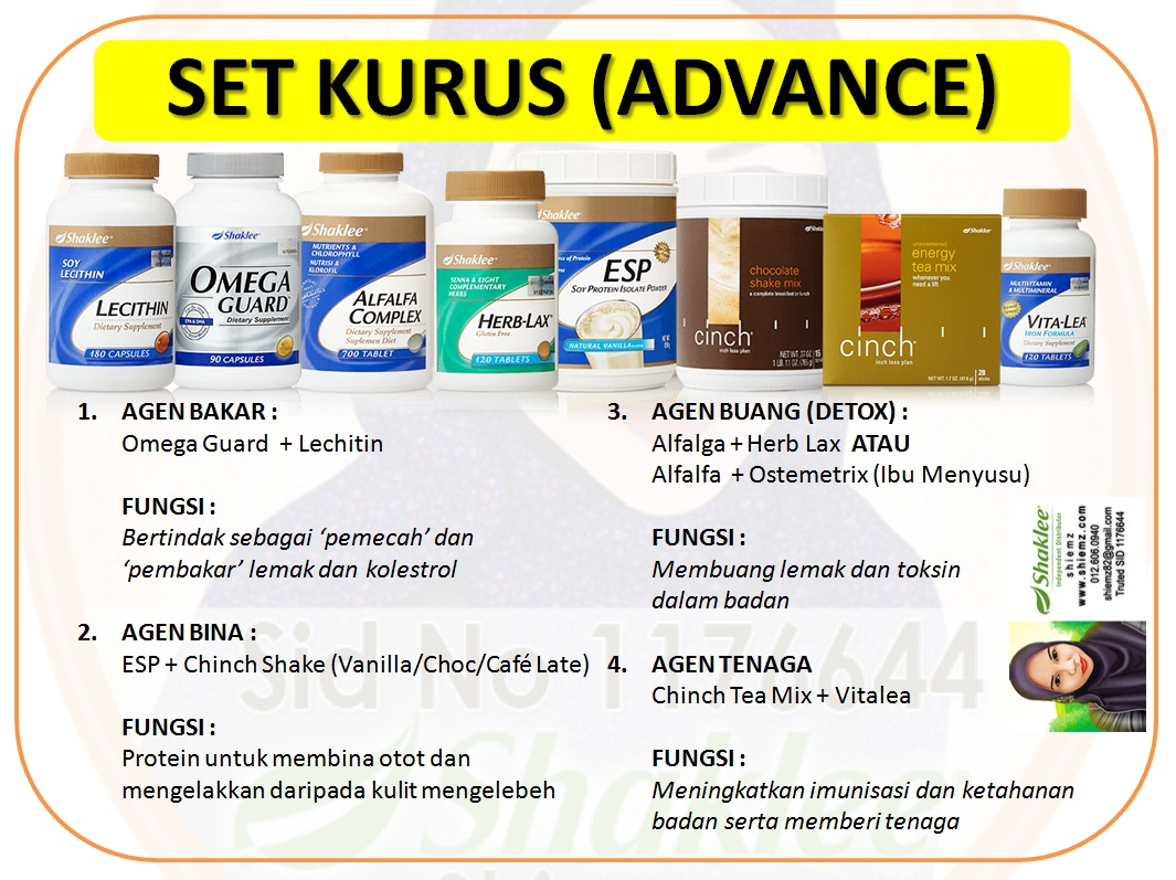 Set Kurus Shaklee Advance